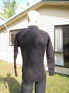 Aleeda Long Sleeve Metalite Top back view