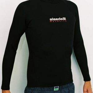 Aleeda Long Sleeve Metalite Top front view