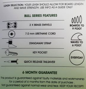 Here are the features of the Balin Bull Double 8ft surf leash