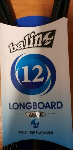 Balin Longboard Mal SUP 12ft leg rope leash Ankle Version packaged up ready for you